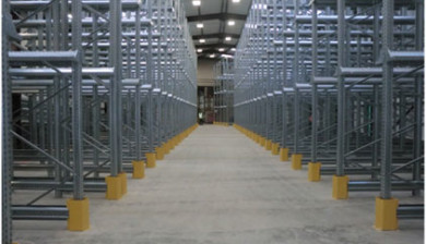 complete drive in racking installed