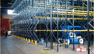 After pallet racking installation at a Hartlepool manufacturer warehouse