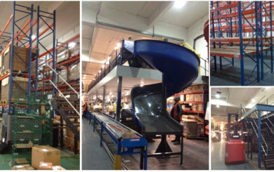 Multi-tier conveyor system and chute