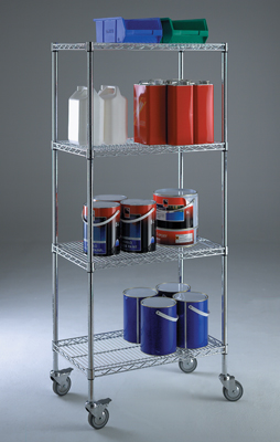 stainless steel shelving trolley