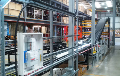 automated conveyor system installation