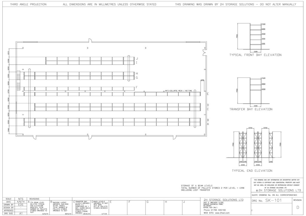 sk 101 pallet racking cad drawings