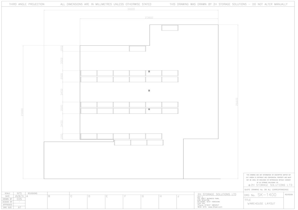 sk 1400 warehouse layout CAD drawings