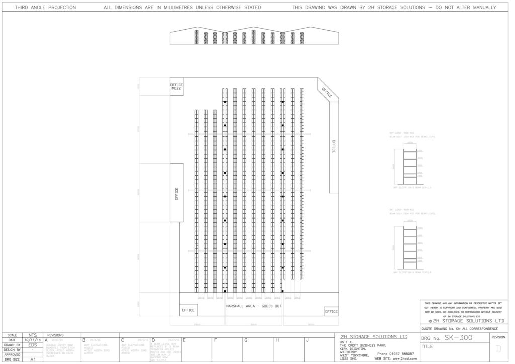 sk300 model pallet racking cad drawings