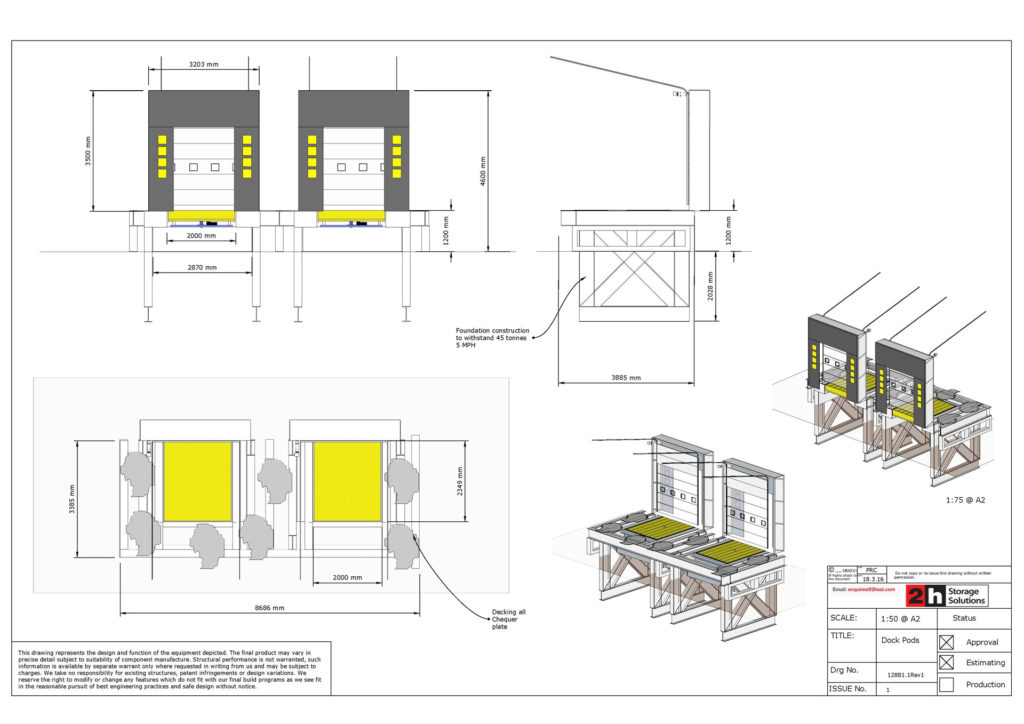 Vehicle loading Port CAD Drawings