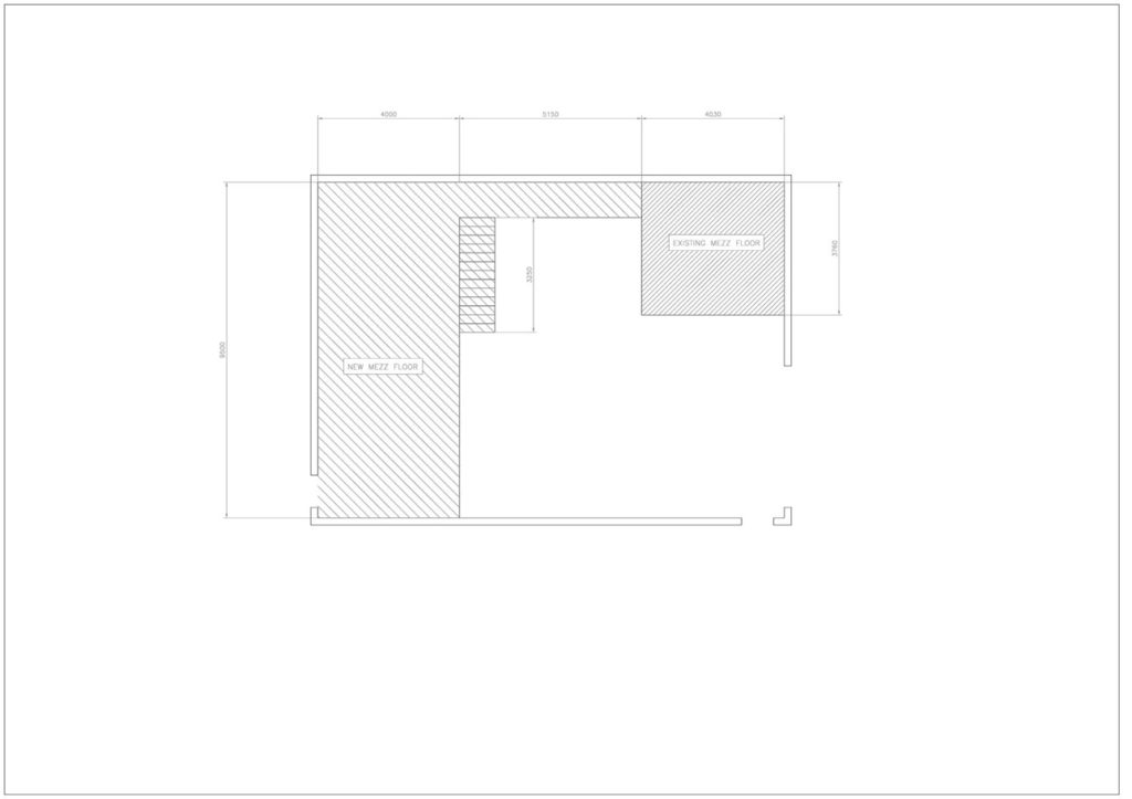 mezzanine floor layout cad drawings