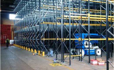 After pallet racking installation at a Hartlepool manufacturer warehouse